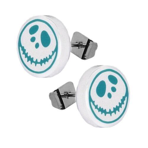 Halloween Fakeplugs Ohrstecker Piercing Ohrring Kürbis Horror Spinne Edelstahl