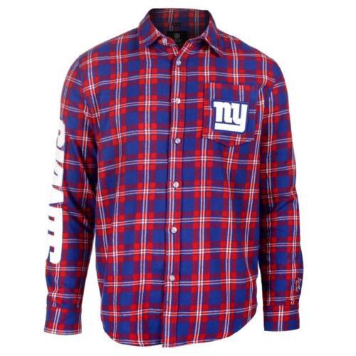 NFL-Football-Team-Logo-Mens-Long-Sleeve-Wordmark-Flannel-Shirt-Pick-Your-Team