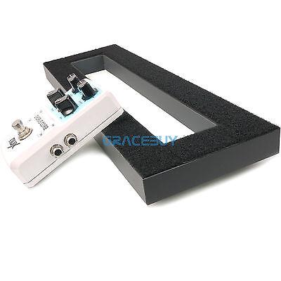 "Guitar Effects Pedal Board 15.7""x5.1"" DIY Pedalboard Adhesive Magic Tape Back"
