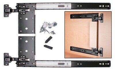 "Knape /& Vogt KV 8080 8080EZ Pivot Pocket Door Slides Kit 12/"" 22/"" Anochrome 20/"""