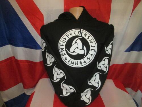 Black Odins Horns Hoody Sweatshirt