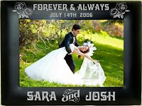 Personalized Metal Picture Frames 4x6 5x7 8x10 Custom Wedding Couple Party Gifts