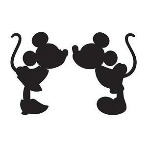 Adesivo Sticker Minnie Topolino Cartoni Di Sney Mikey Mouse Bacio
