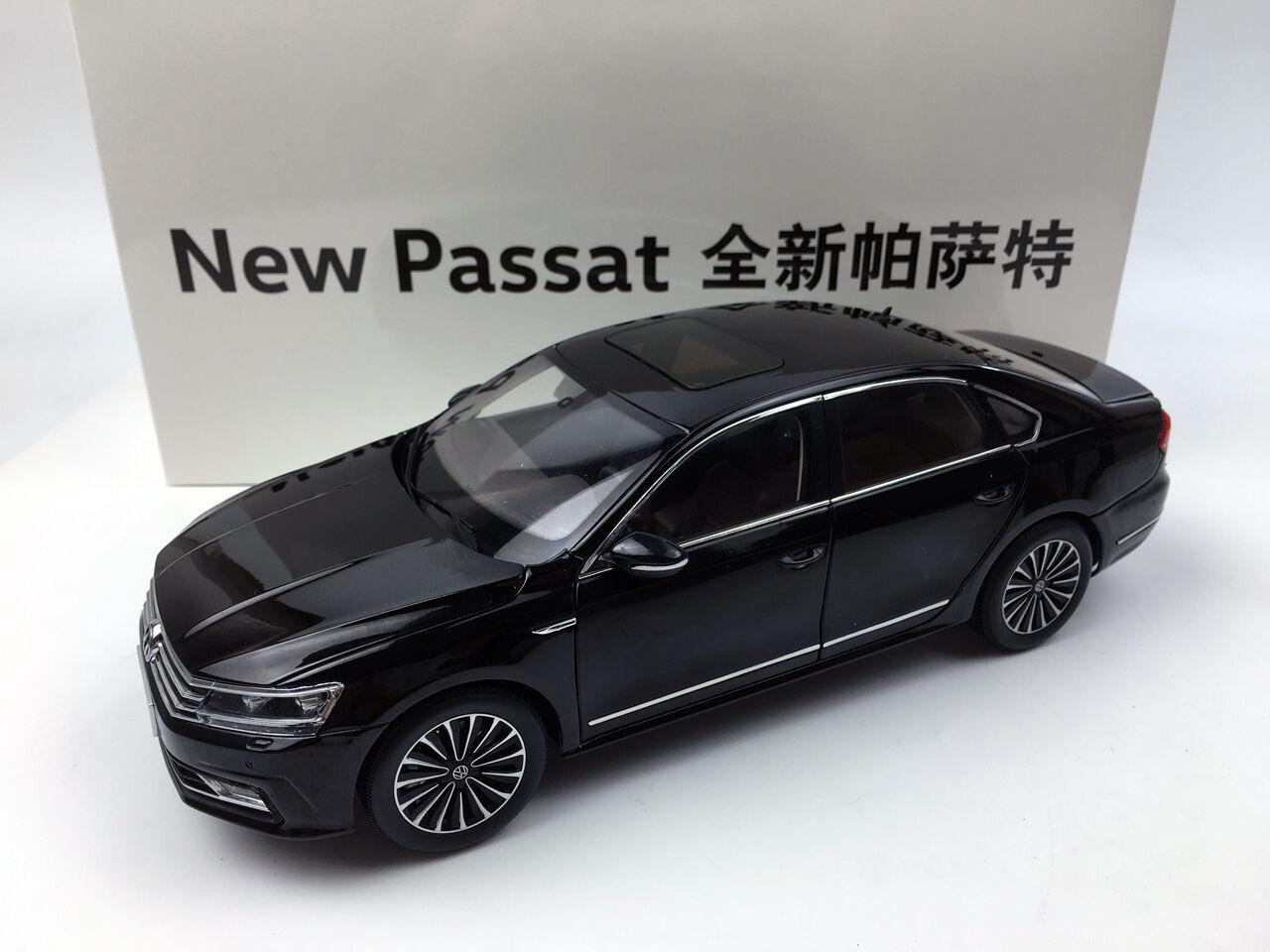 Shanghai Volkswagen Nuevo Passat Grand Prix 2018 negro Modelo de Metal Fundido a Troquel