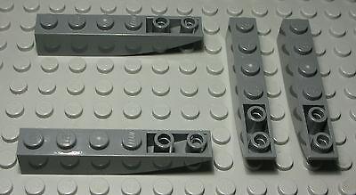 1414 Lego Stein abgerundet negativ 1x6 new Dunkelgrau 4 Stück