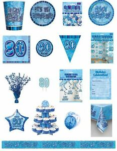 80-80th-Birthday-Blue-Glitz-Party-Range-Party-Plates-Napkins-Banners-Cups
