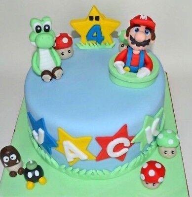 Groovy Super Mario Bros Cake Topper Yoshi Luigi Figure Edible Set Funny Birthday Cards Online Unhofree Goldxyz