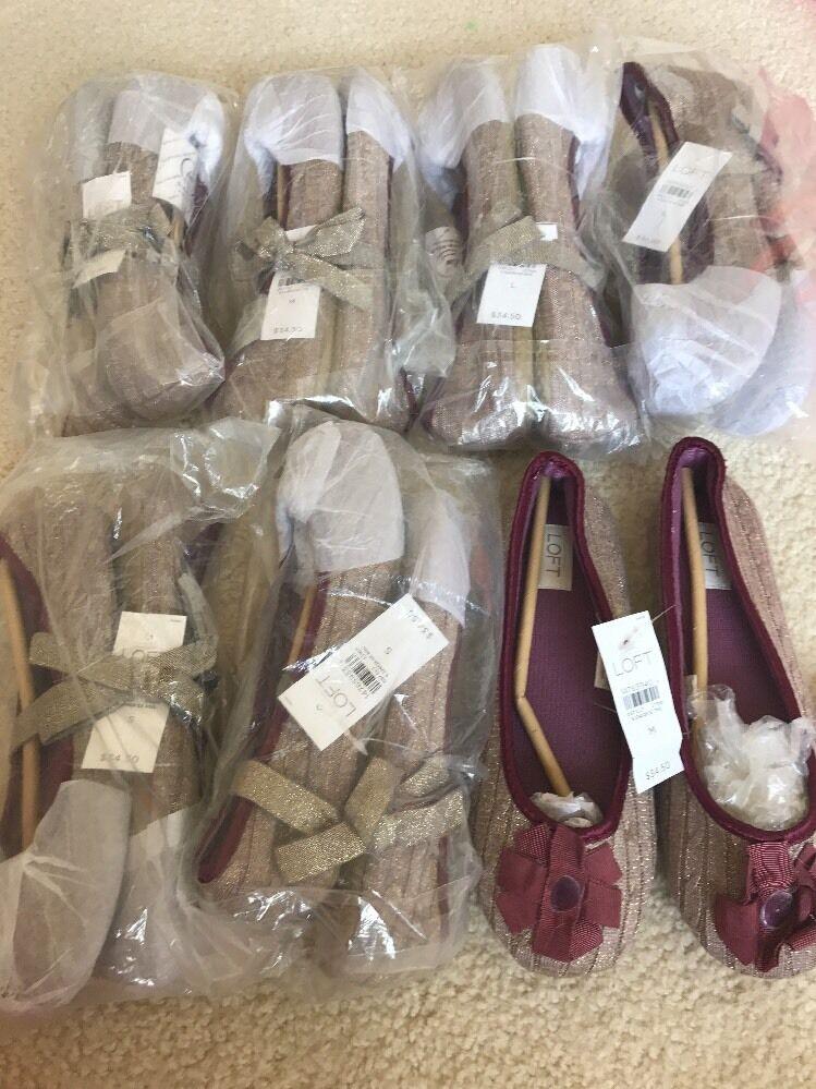 risparmia fino al 50% NWT Lof Of 5 Ann Taylor Loft Donna    Slippers scarpe Soft S M NEW Great Gifts   protezione post-vendita