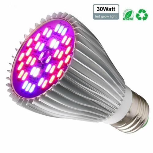 60W Full Spectrum Dual Head LED Grow Light 360°Adjustable Lamp Indoor Veg Plants