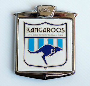 RARE-VINTAGE-VFL-NORTH-MELBOURNE-KANGAROOS-FOOTBALL-CLUB-FOOTBALL-CLUB-CAR-BADGE