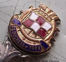 SS Duchess of York Canadian Pacific Shipping Line Enamel Crest Sifter Spoon