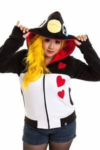 Ladies Emo White Goth Cupcake Cult Punk Black Hood Splash Penguin PqnYPt70x
