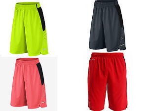 Nike Men's Hyper Elite Power Basketball Shorts Grey/Lava ...