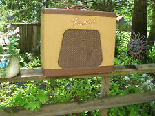Premier guitar amp vintage tube 1960 harp guitar vocal Multivox US made tremelo