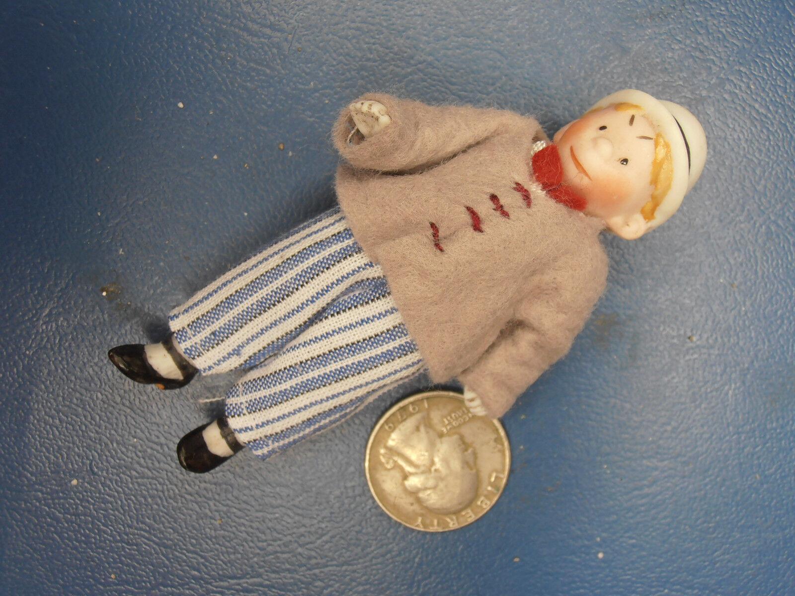 Muñecas Antiguas Alemania Comik Niño con había cap1900
