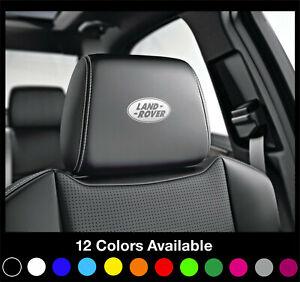 5x-LAND-ROVER-Logo-Headrest-Car-Seat-Decals-Badge-Sticker-Defender-Discovery-4x4