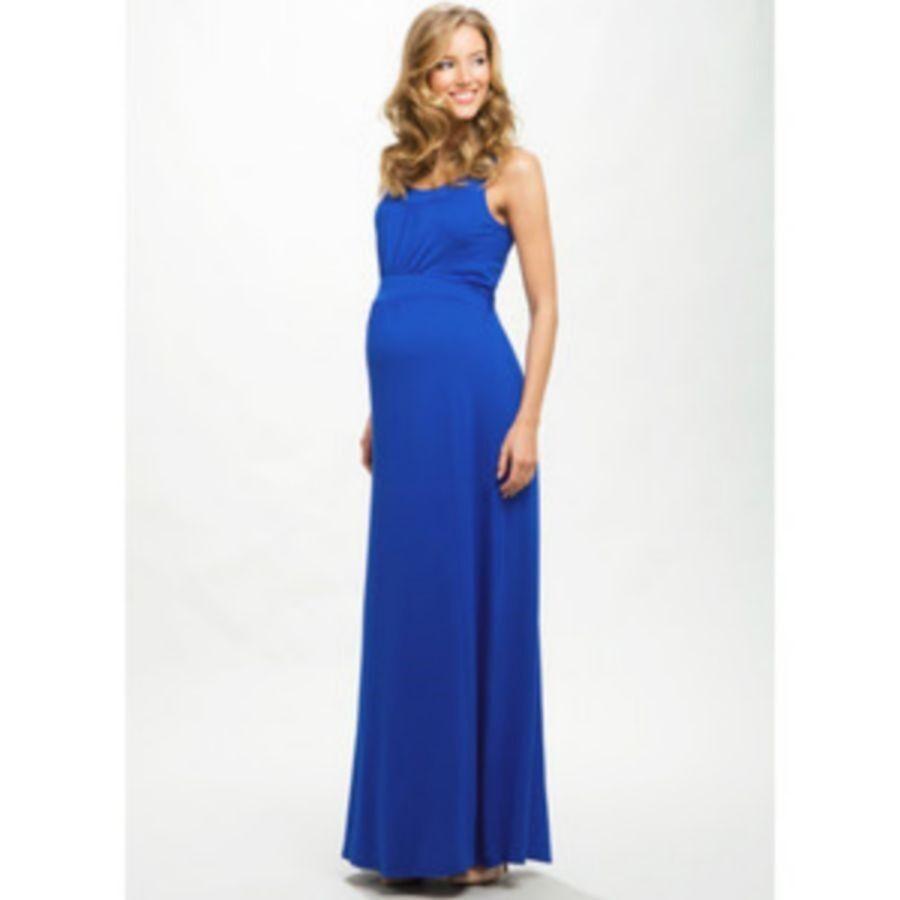 MATERNITY MAXI DRESS - SIZE 14 - blueE
