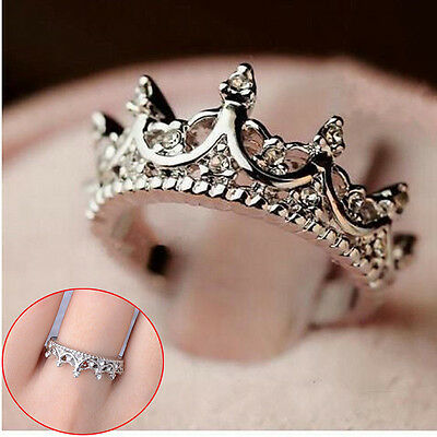 HOT Fashion Korea Elegant Queen Crown Women Ring Jewelry Gift