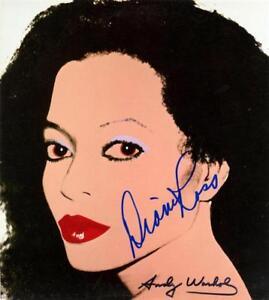 Diana Ross Andy Warhol Signed Art Print Pop Motown Singer Artist