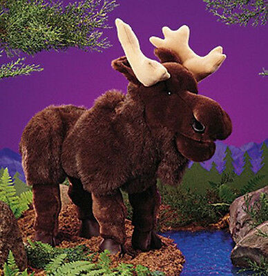 "MOOSE PUPPET # 2205 ~ 20"" Long ~ Free Shipping in USA ~ Folkmanis Puppets"