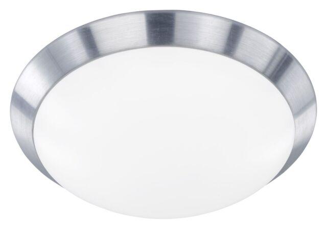 Wofi Deckenleuchte Mara 1 flammig Deckenspot Lampe Aluminium gebürstet LED