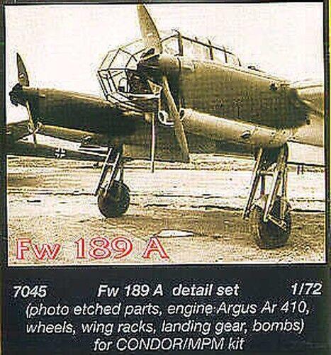 CMK 1/72 Focke-Wulf Fw189A Set Detalle # 7045