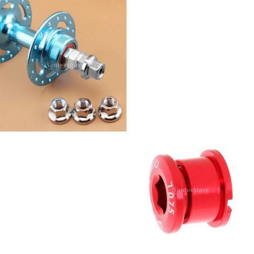 1 Pair Track Nuts Bicycle Wheel for Rear Hub 1x Alloy Bike Crank Arm Screw