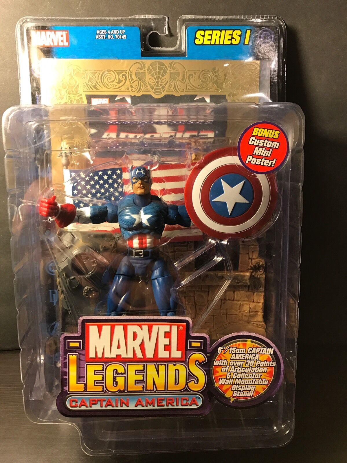 Marvel - legenden captain america Gold - serie sehe ich