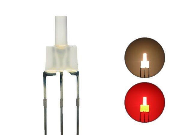 S445 10 Stk. DUO LEDs 2mm Bi-color warmwhite red diffus Lichtwechsel Loks DIGITAL