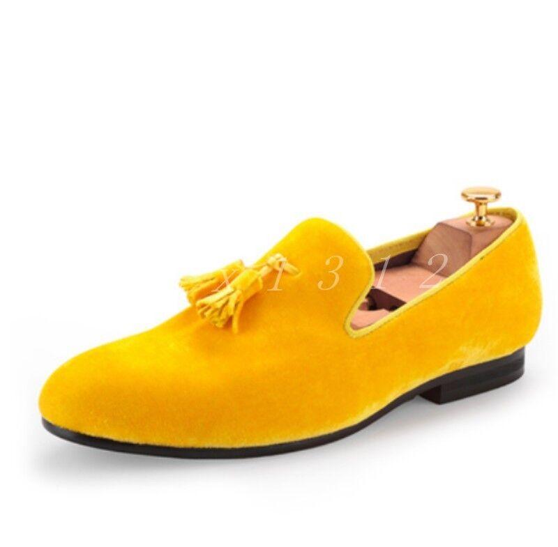 74074828fc52 Hot Sale Men s Velvet Velvet Velvet Round Toe 7colors Loafers Slip On  Driving Light shoes Size ...