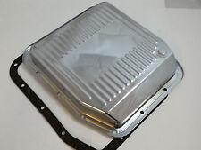 New Chrome Ford A.O.D. AOD Transmission Pan W / Gasket  & Drain Plug 1980 - 1993