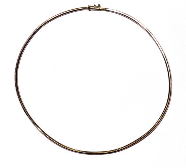 18k white gold 2.5mm omega domed necklace 15.7g 15 1/2