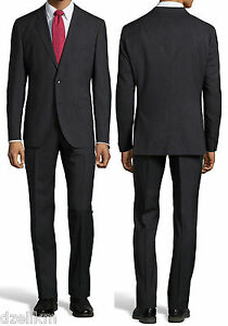 1fa60b0df NWT Hugo Boss Black Label Super 100 Wool Slim Fit Pinstripe Plaid ...