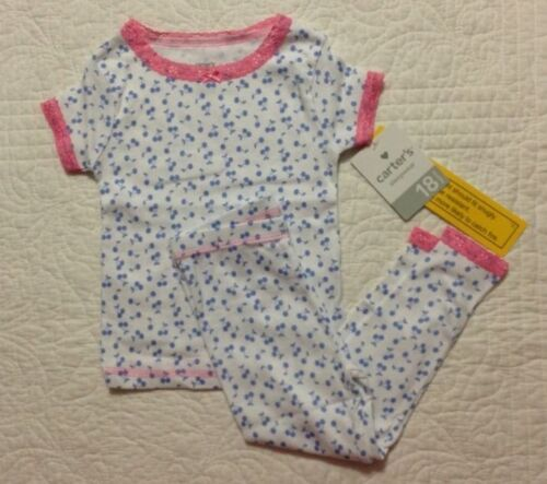 573a62791 NEW CARTERS SLEEPWEAR Baby Girls 2 Piece Pajama Set Size 18 Months ...