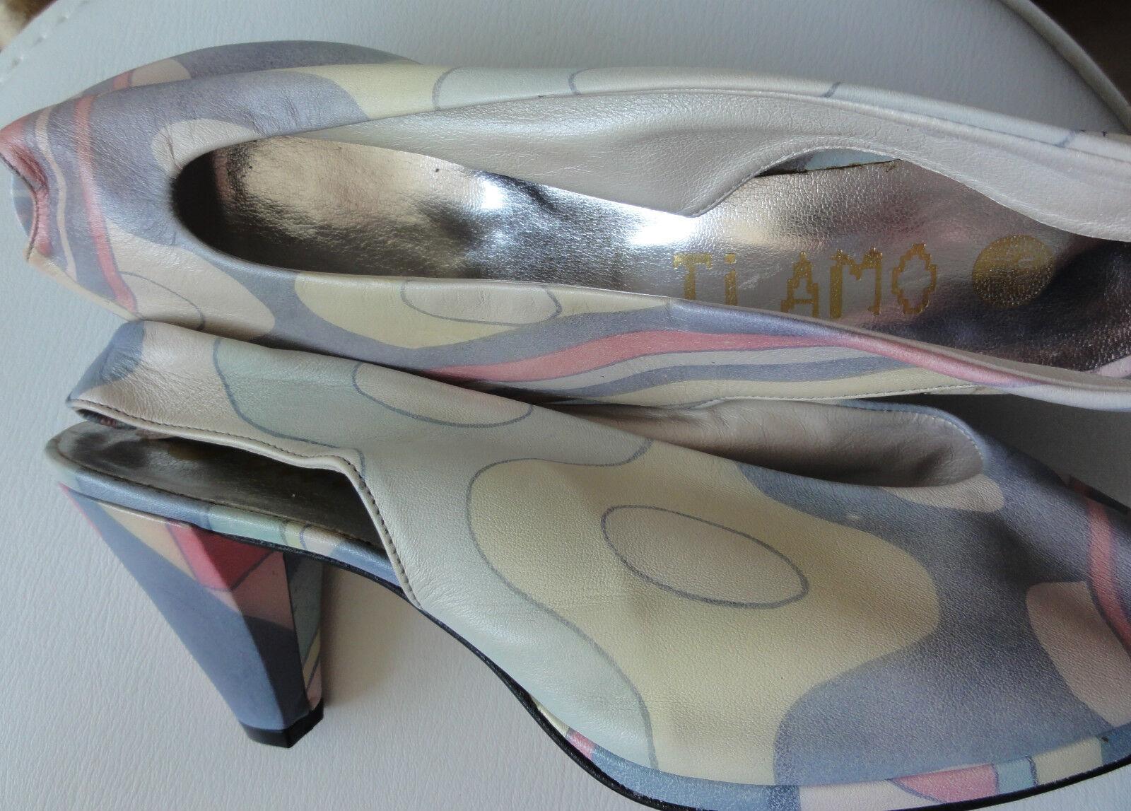 TI BMO Leder Schuhe, Slingback,Sandaletten Gr.6 bzw. 39 NEU