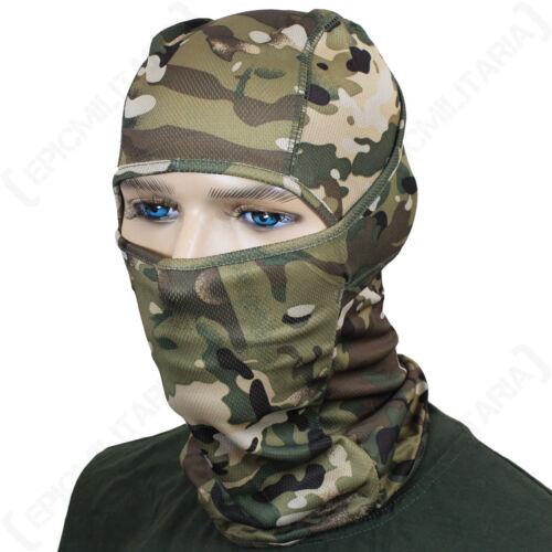 multitarn Tarnung Sturmhaube leicht atmungsaktiv taktisch Militär Armee Grün