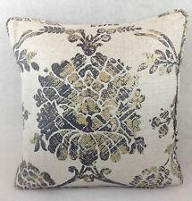"""Designers Guild Fabric Cushion Cover Sukumala Lino Graphite 18""""x18""""  Self Piped"""