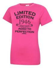 "Women/'s 75th Birthday T-Shirt /""Est 1945 Classic Vintage/"" Ladies 75 years Gift"