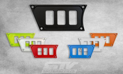 Polaris RZR XP 1000 2 Dash Panel plates for Rocker switch upgrade Black