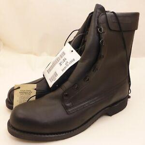New-Vintage-2001-Black-Military-Boots-MENS-SIZE-10-5-E-Addison-Shoe-Company-DSCP