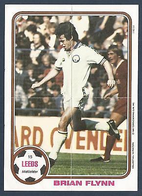 ORANGE BACK 1978 -#291- LEEDS TOPPS-FOOTBALL BRIAN FLYNN