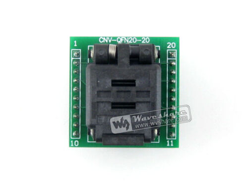 Plastronics IC Test Socket /& Programming Adapter for QFN20 MLF20 MLP20 package
