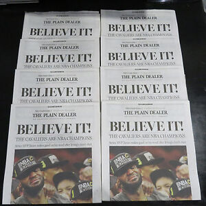739024eaab9 Cleveland Cavs NBA CHAMPIONSHIP 6 20 16 Plain Dealer Newspaper ...