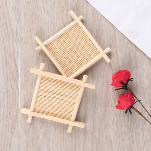 Wooden Bamboo Soap Dish Tray Holder Storage Soap Rack Plate Box Container KKMWCA