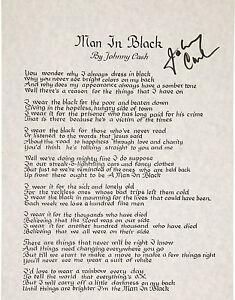JOHNNY-CASH-Signed-Lyrics-039-Man-In-Black-039-Country-Rock-Singer-preprint
