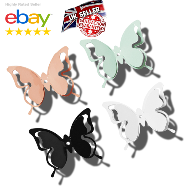 Fence Butterflies 25x Colourful Metal Garden Ornaments Shed or Wall Art