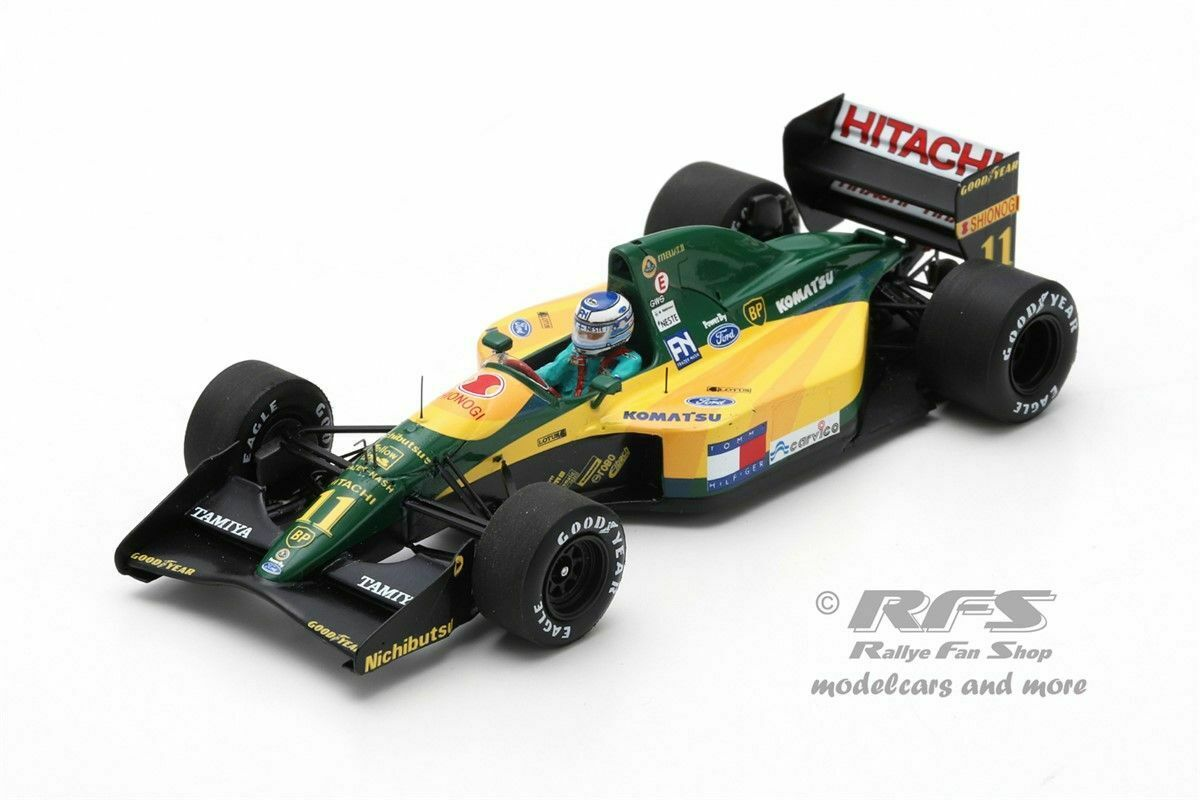 Lotus 107 Ford Mika Hakkinen Formula 1 France 1992 1 43 Spark 5355 NEW