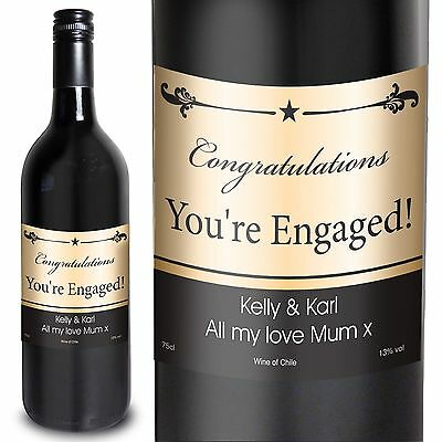 Personalised Red Wine Black Border - Christmas for couples, Congratulations