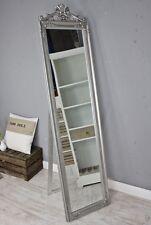Standspiegel groß 180 x 45 cm SILBER barock Spiegel antik Landhaus Holz Patina
