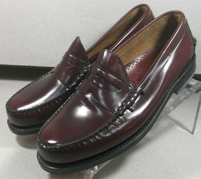 249003 MS50 Chaussures Hommes Taille 10.5 B bordeaux cuir ski MOC Johnston & Murphy